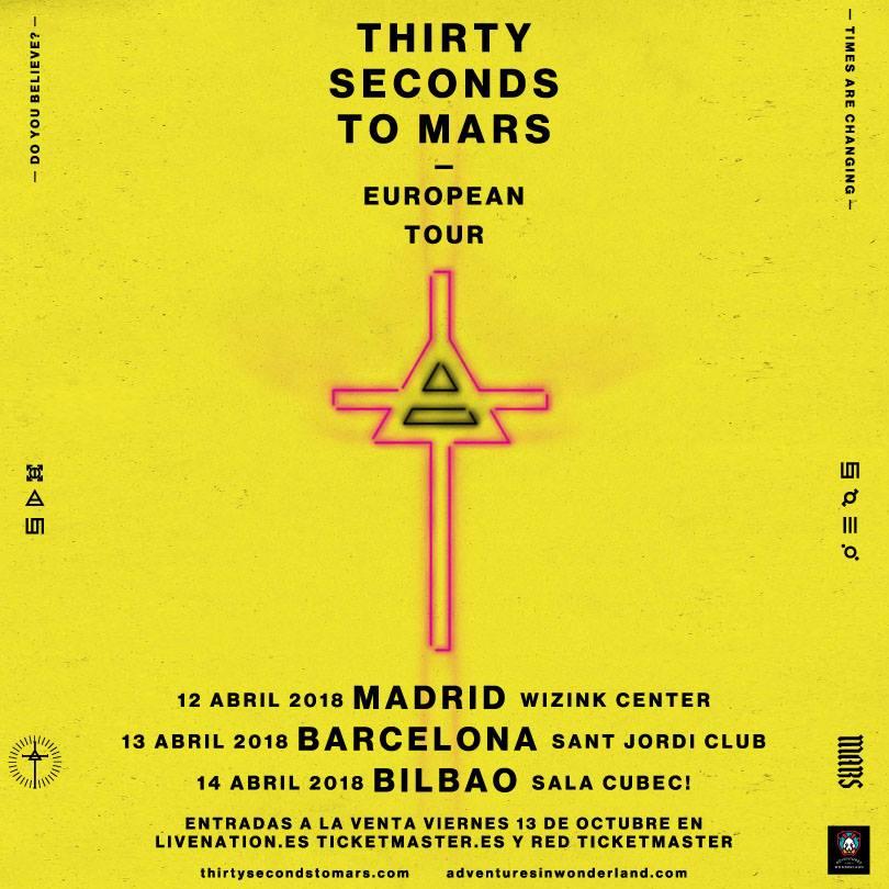 thirty seconds to mars españa tour