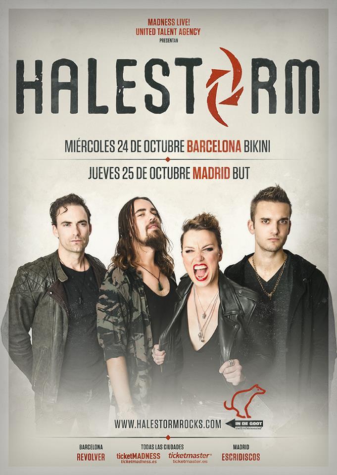 halestorm spanish tour