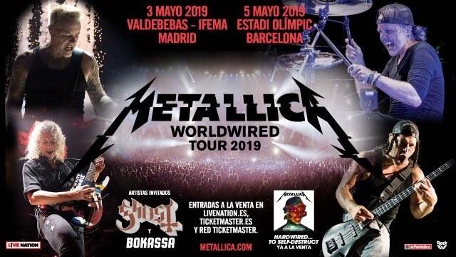 metallica worldwire tour 2019