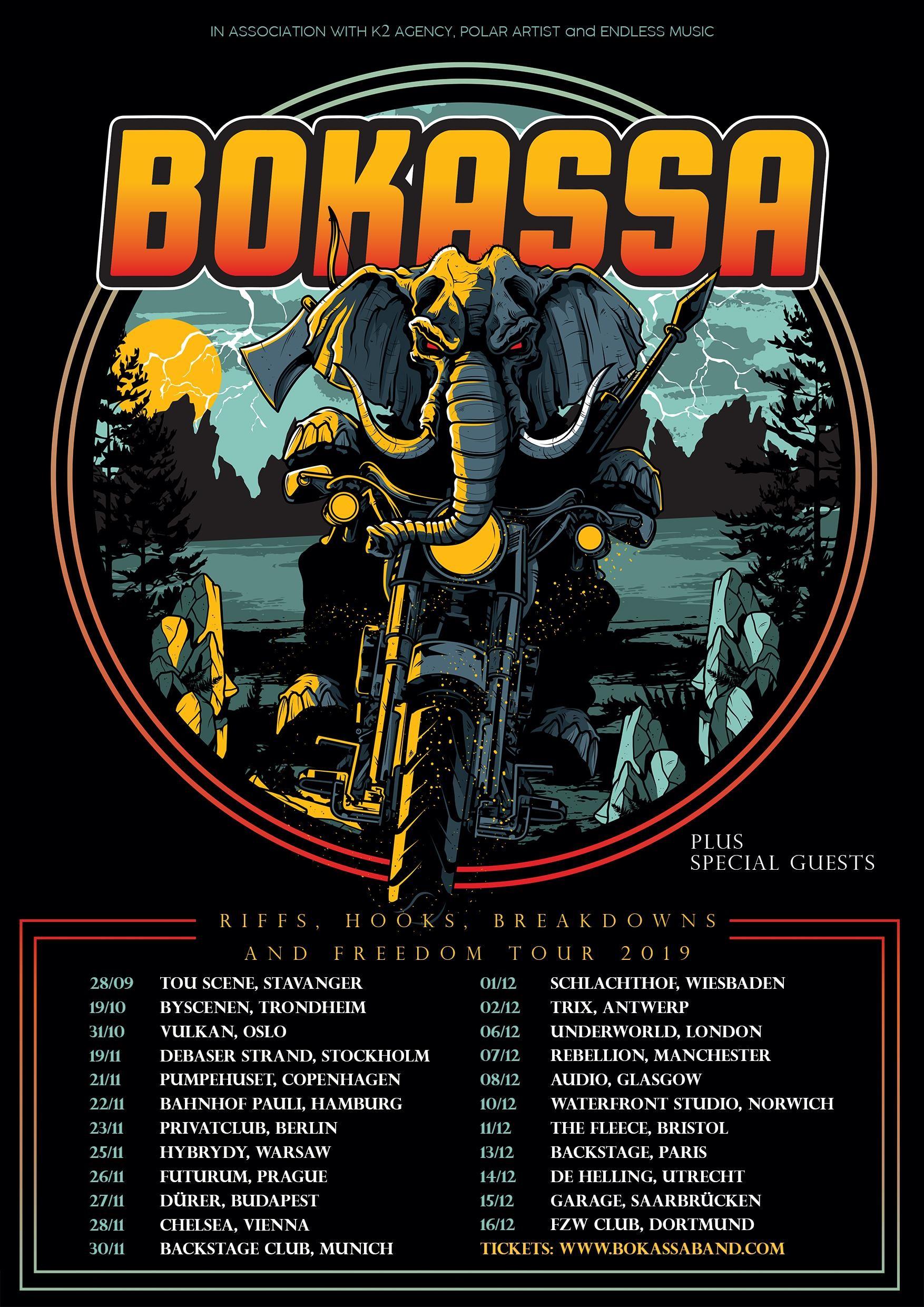 Bokassa poster gira invierno 2019