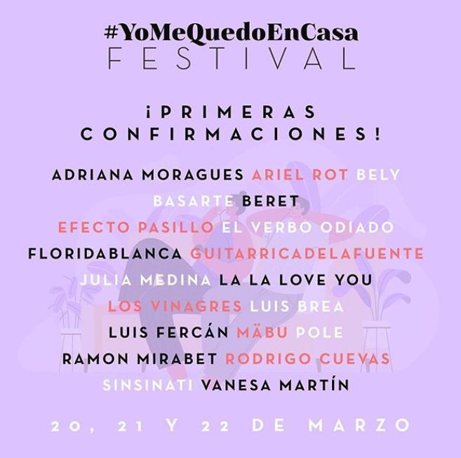 yomequedoencasa festival 2